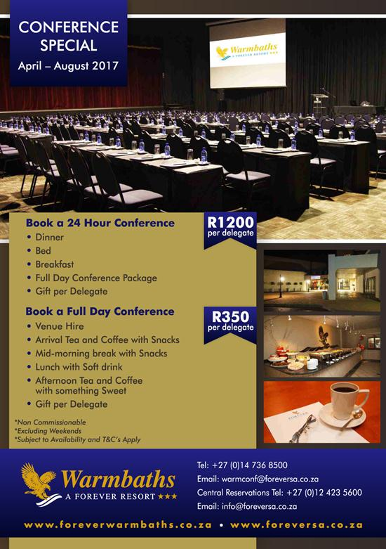Warmbaths: April-August Conference Special