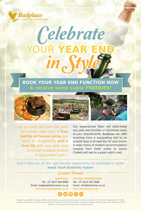 Celebrate Your YEAR END in Style!
