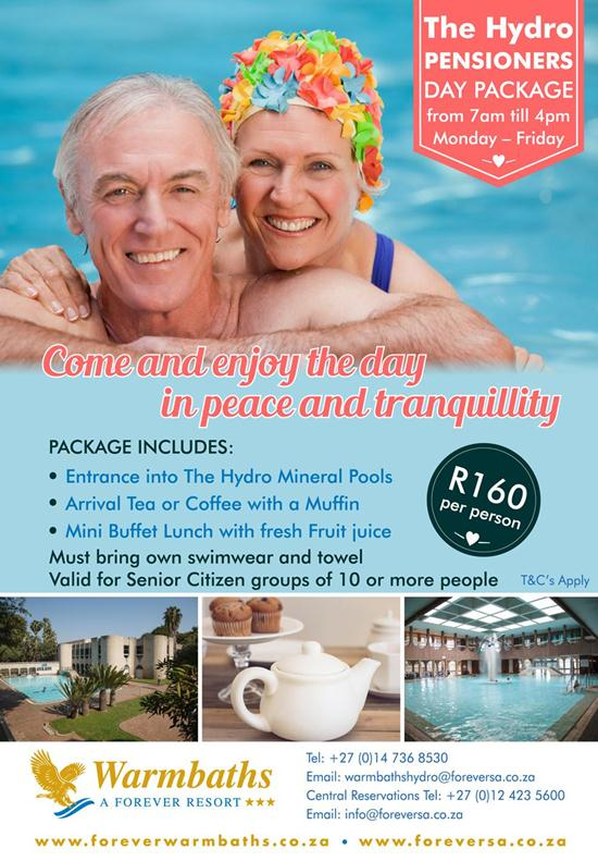 The Hydro Pensioners Day Package