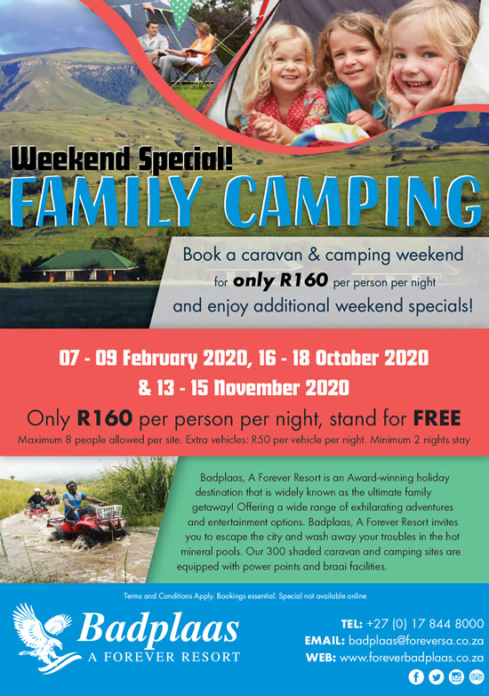 Family Camping Weekend Special