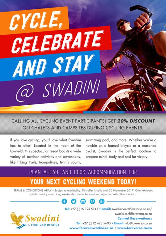 Cycle, Celebrate & Stay @ Swadini