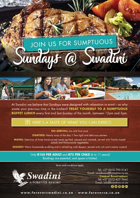 Join Us For SUMPTUOUS SUNDAYS @ Swadini