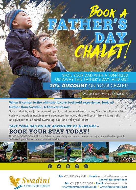 Book A FATHER'S DAY Chalet!