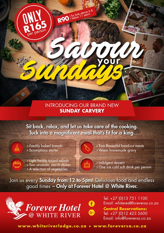 Savour Your Sundays @ White River