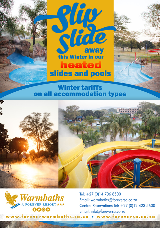 Slip Slide Away This Winter In Our HEATED Slides and Pools!