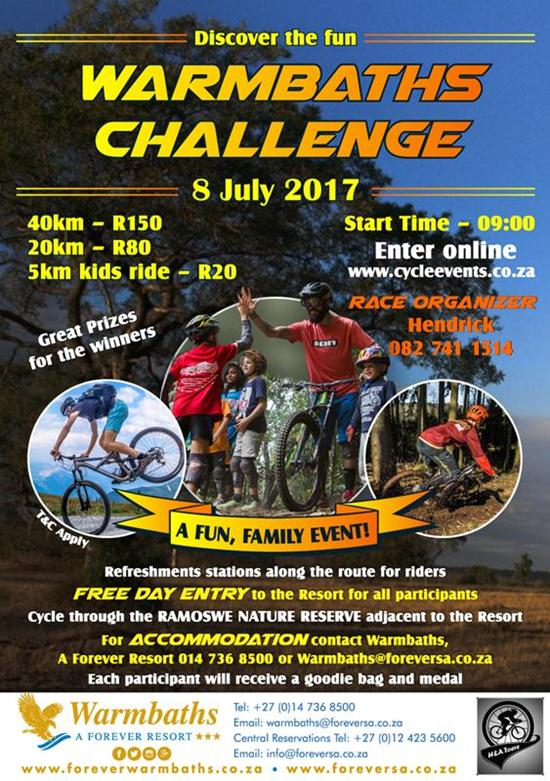 Discover The Fun: Warmbaths MTB Challenge