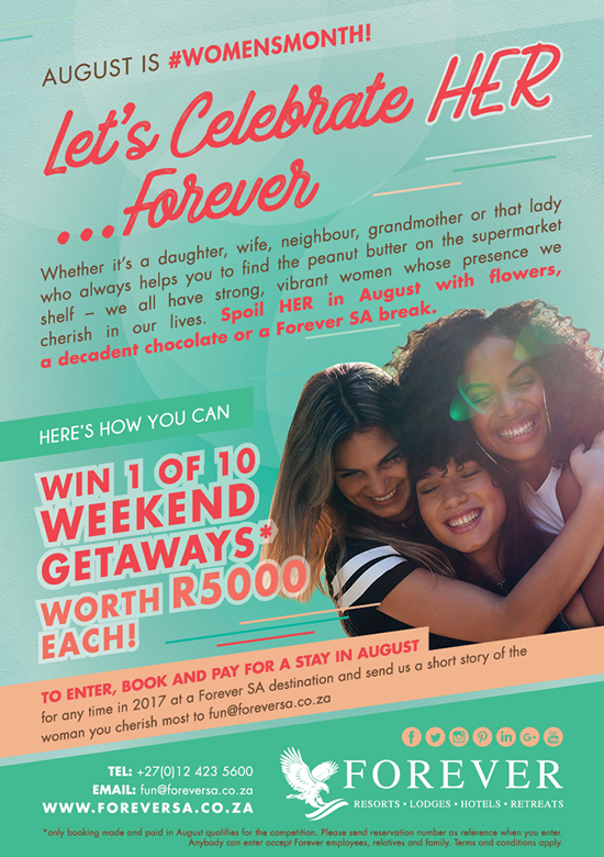 WIN A R5000 Forever weekend, WEN 'n R5000 Forever naweek
