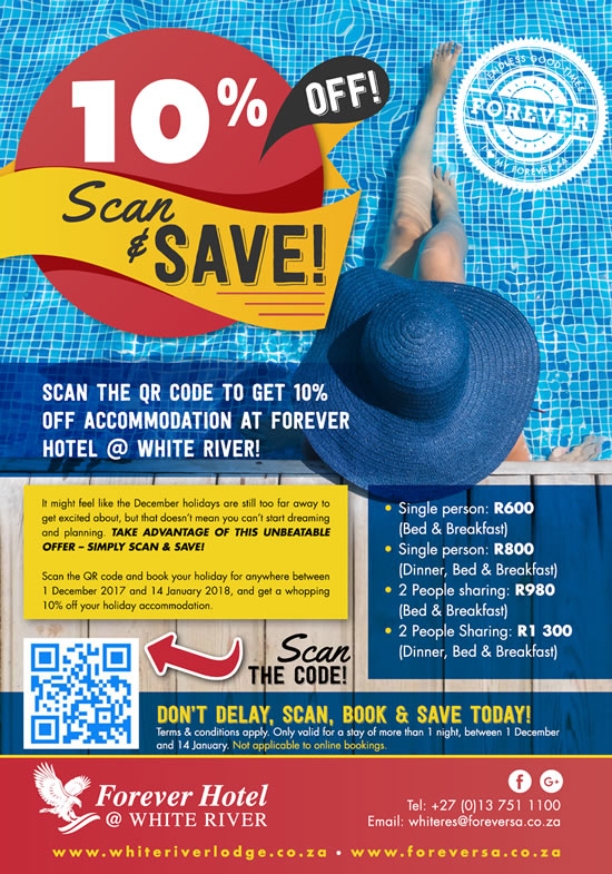 10% Off - Scan & Save at White River!