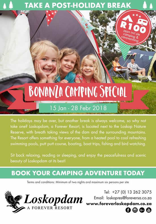 Bonanza Camping Special - Take A Post-holiday Break!